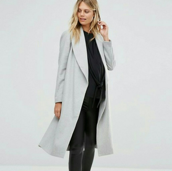 4ff9c271ae3a2 ASOS Maternity Jackets & Coats | New Look Belted Wrap Coat | Poshmark